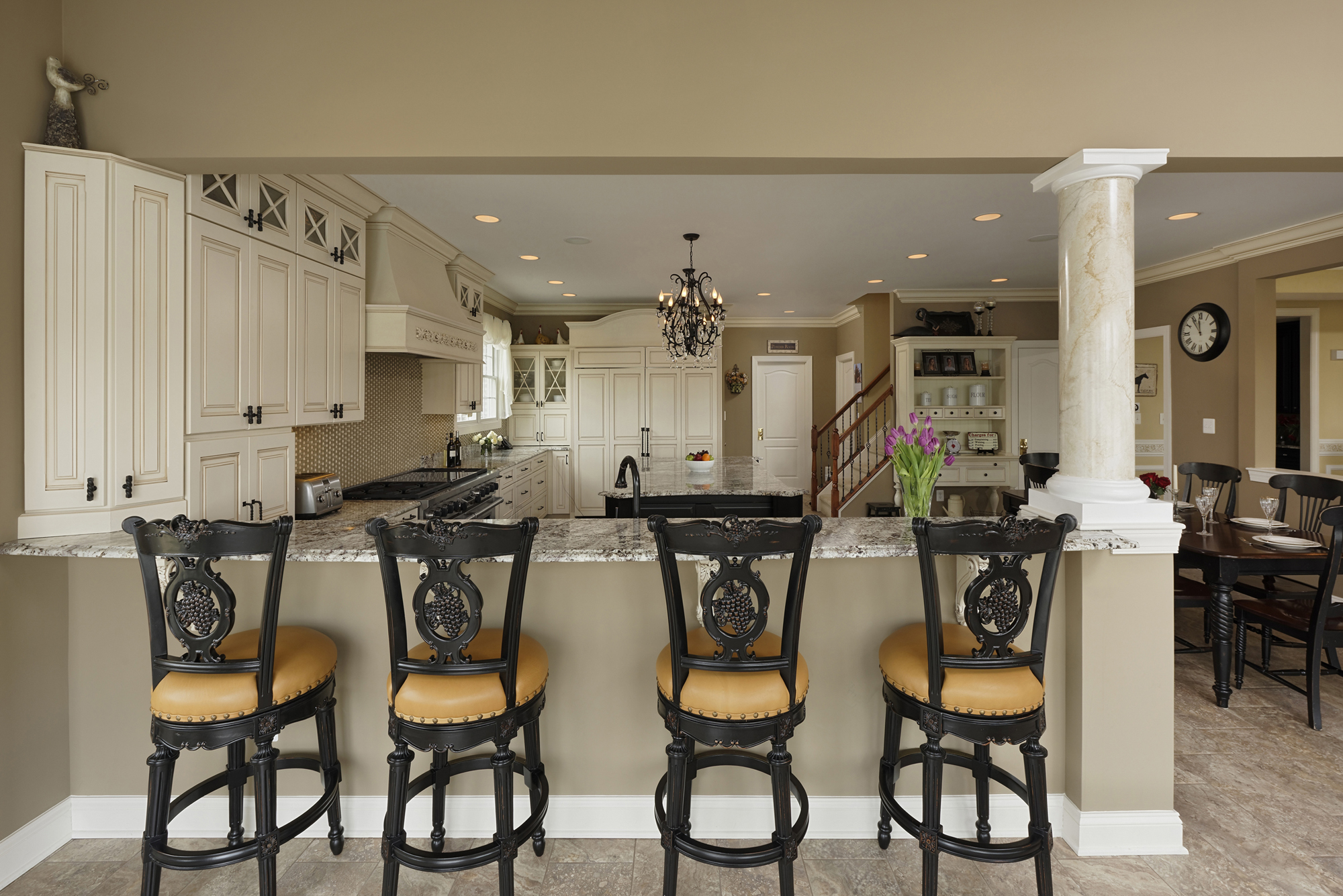 Kitchen Family Room Spectacular Kitchen Family Room Renovation In Leesburg Virginia