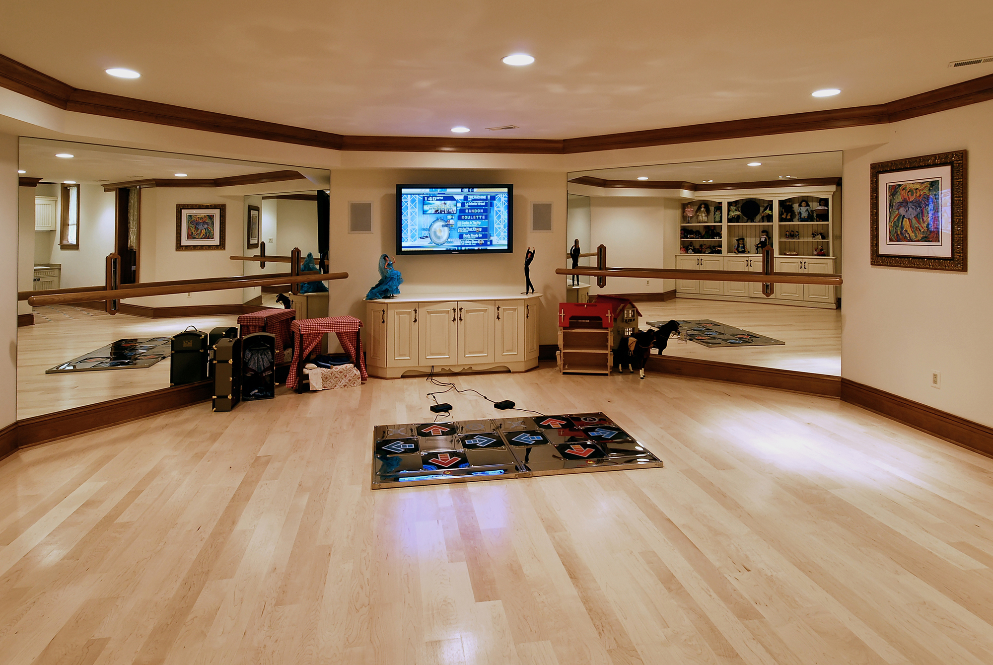 Dance Studio Design Ideas Home Art Dma Homes: Multi-space Renovation In Potomac, Maryland