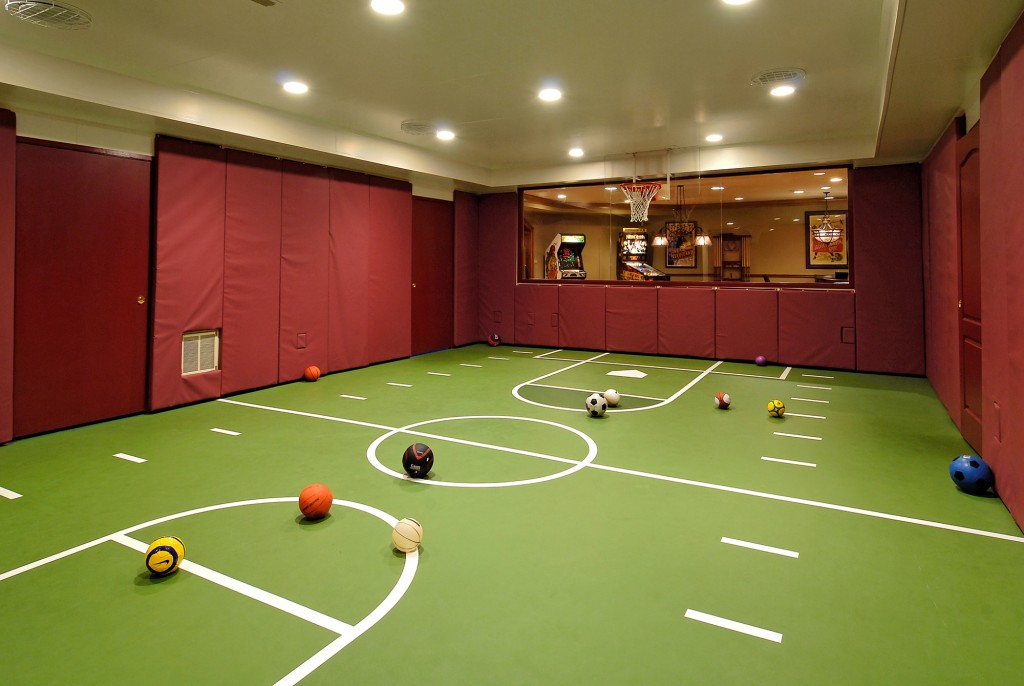 Multi space renovation in potomac maryland bowa for Indoor sport court