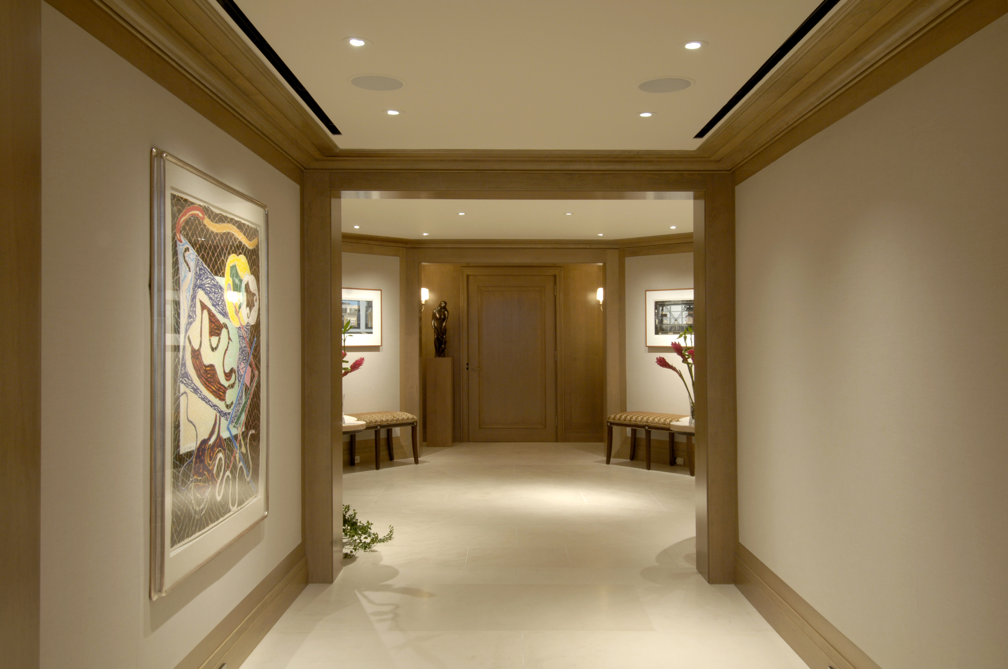 Foyer Hallway Schedule : Award winning condominium penthouse renovation in