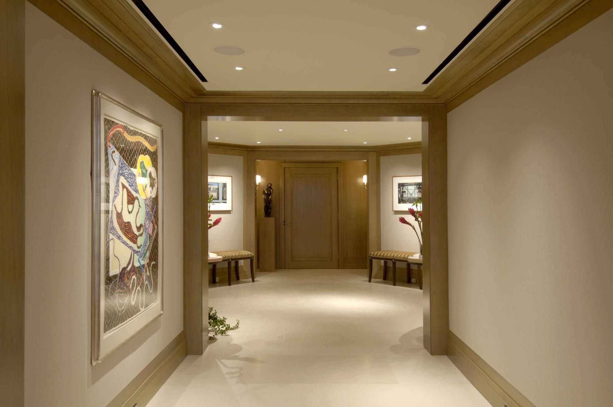 Condo Foyer Design : Award winning condominium penthouse renovation in