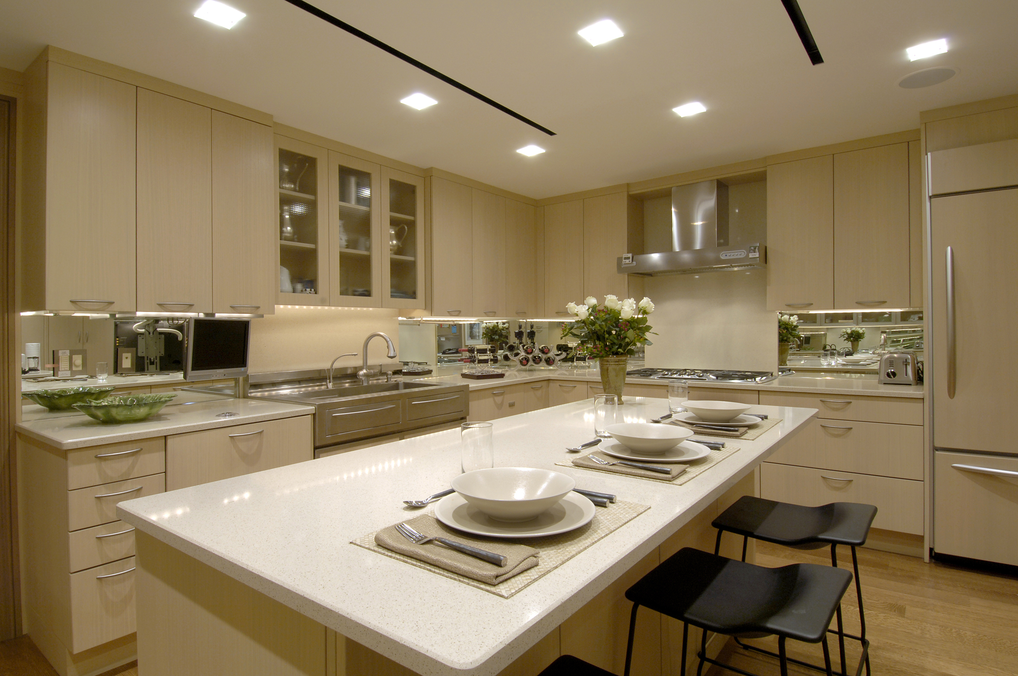 Award winning condominium penthouse renovation in Kitchen design remodel dc