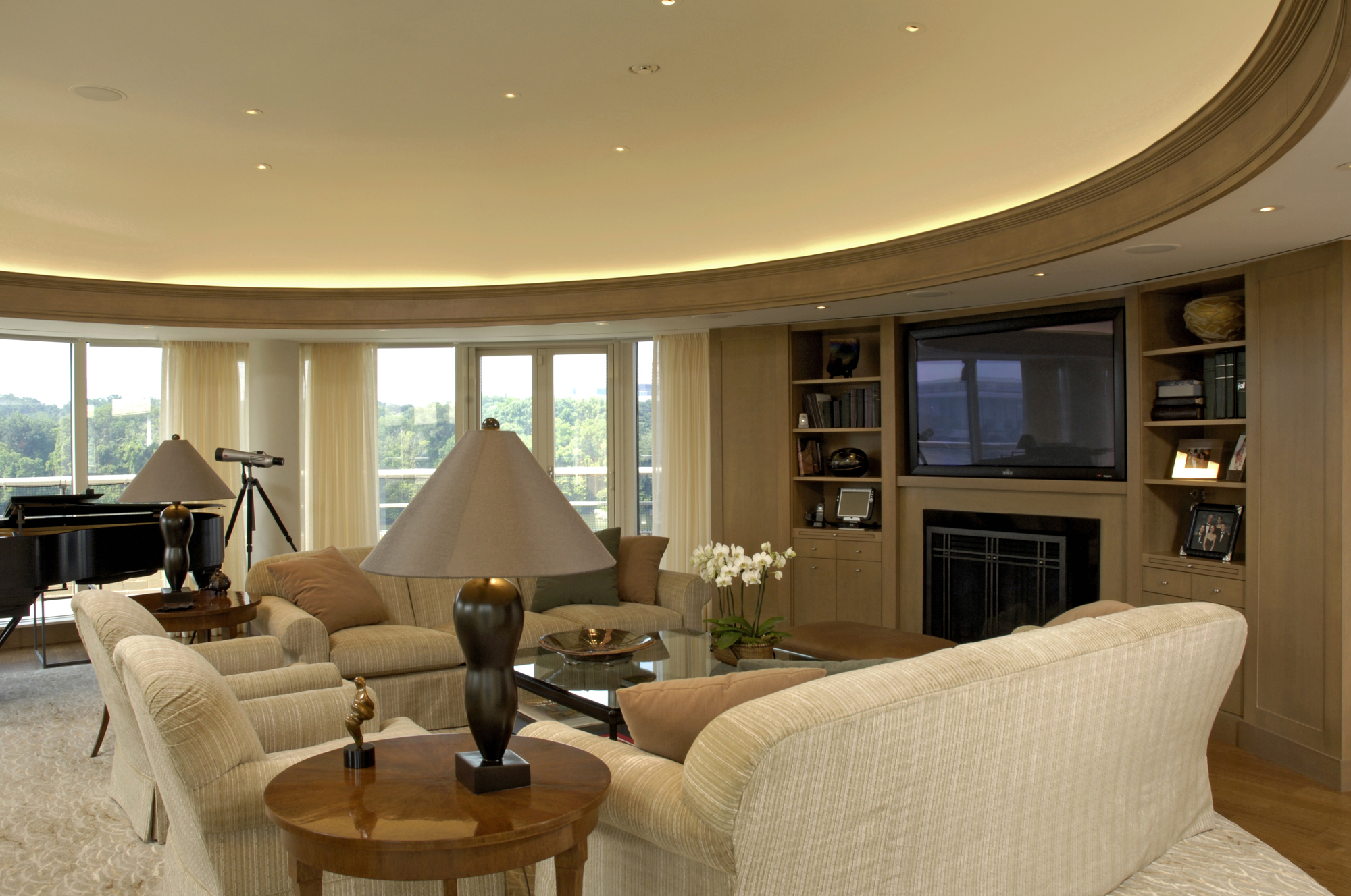 amazing award winning living room | Award-Winning Condominium Penthouse Renovation in ...