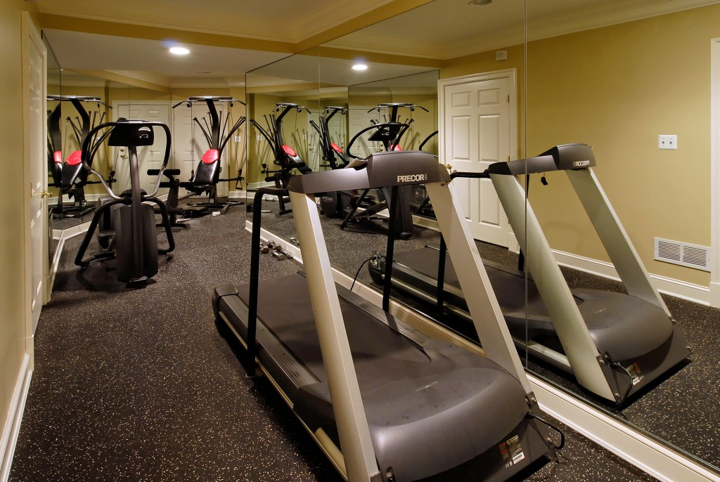 McLean VA Basement Office Entrance Home Gym