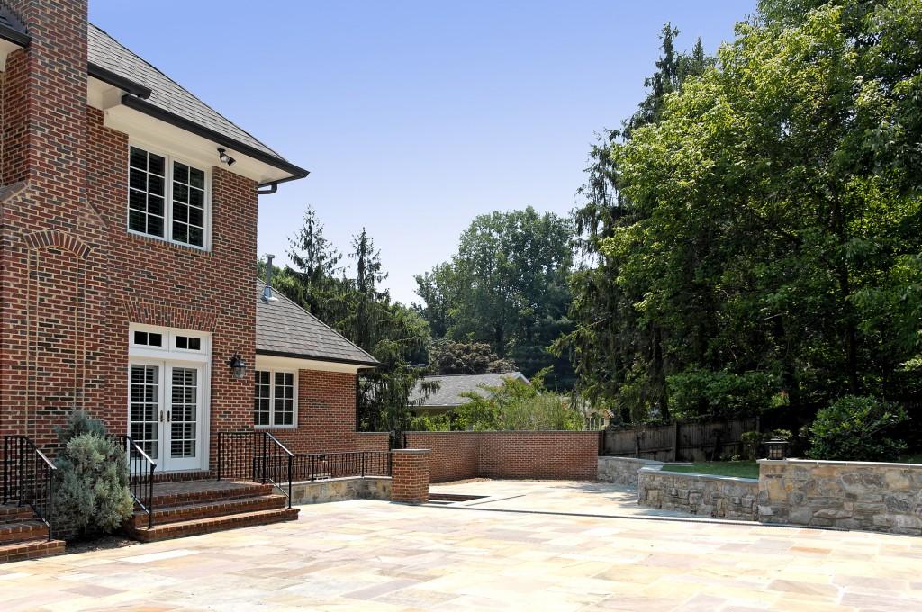 NEW-McLean-va-basement-office-entrance-patio-retaining-wall