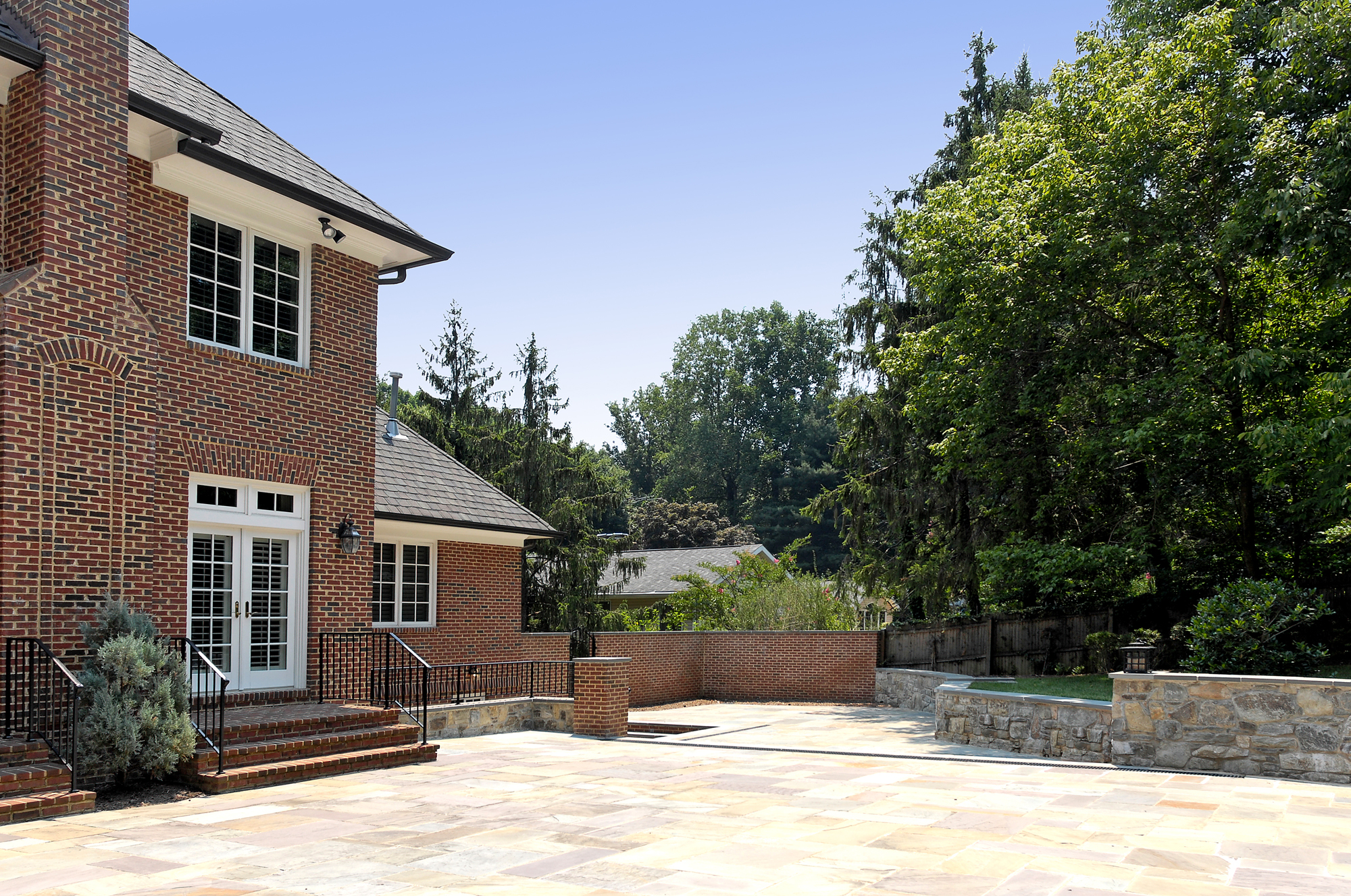 Lower Level Renovation Creates Home fice in McLean Virginia