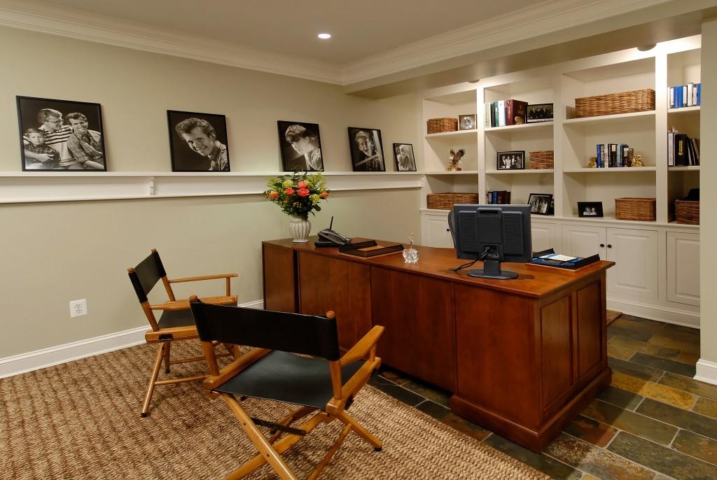 ← → Interesting Basement Office Design