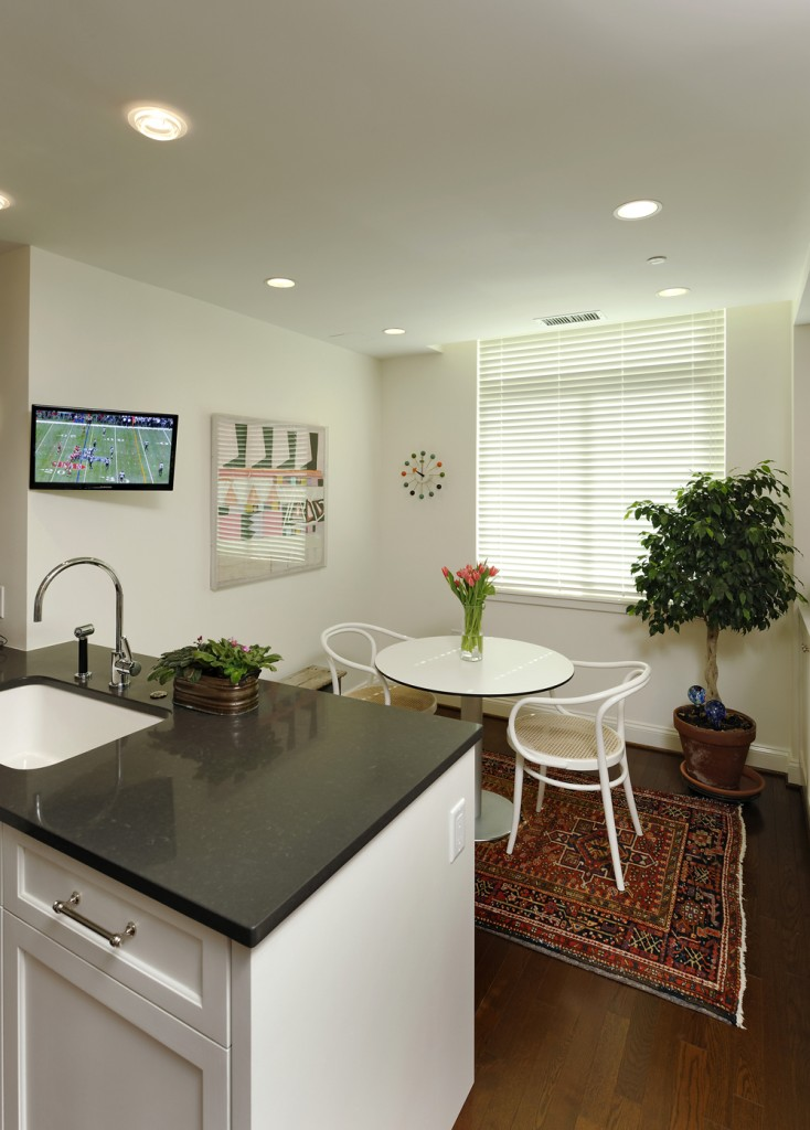 Chevy Chase MD Condominium Renovation Breakfast Nook