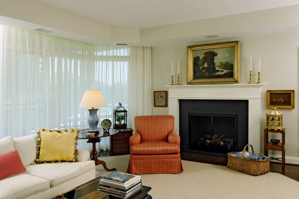 Chevy Chase MD Condominium Renovation Living Room