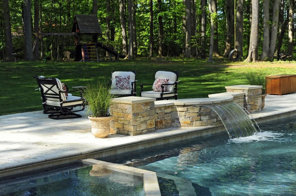 Great Falls VA Renovation Pool Fountain Jacuzzi