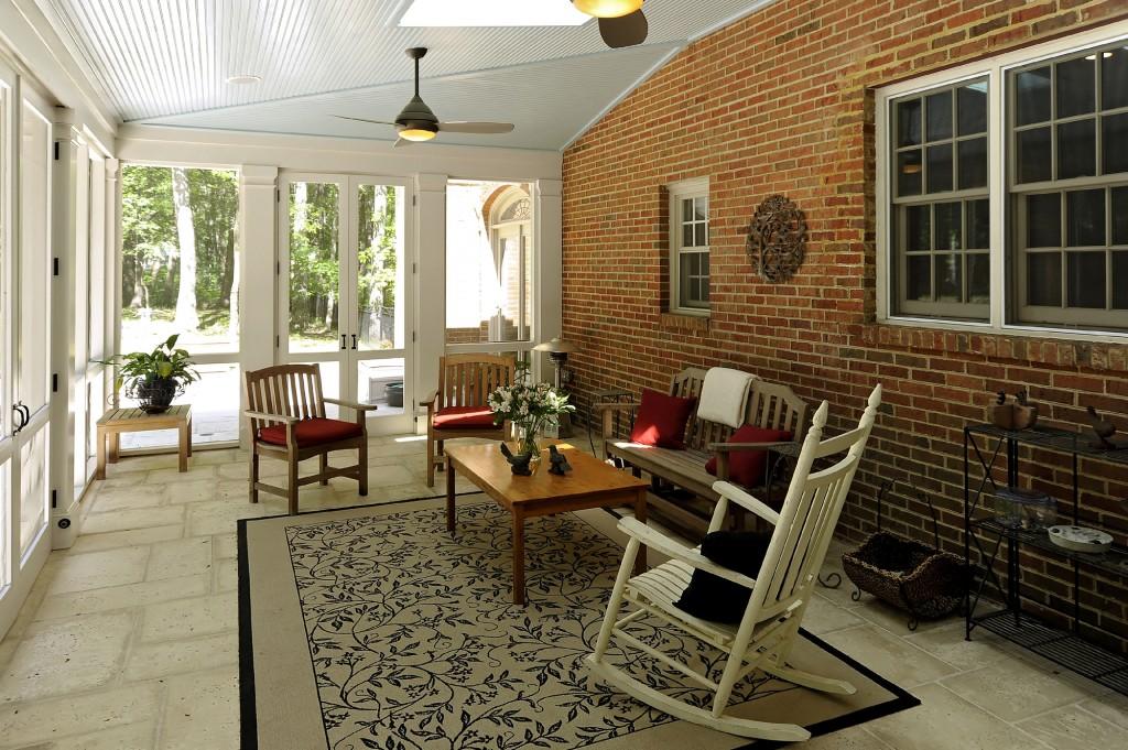 Great Falls VA Renovation Screened Porch