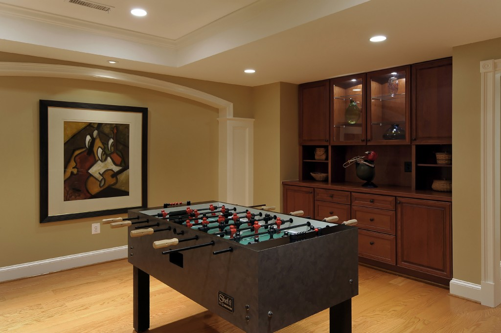 Ashburn VA Design Build Renovation Game Room