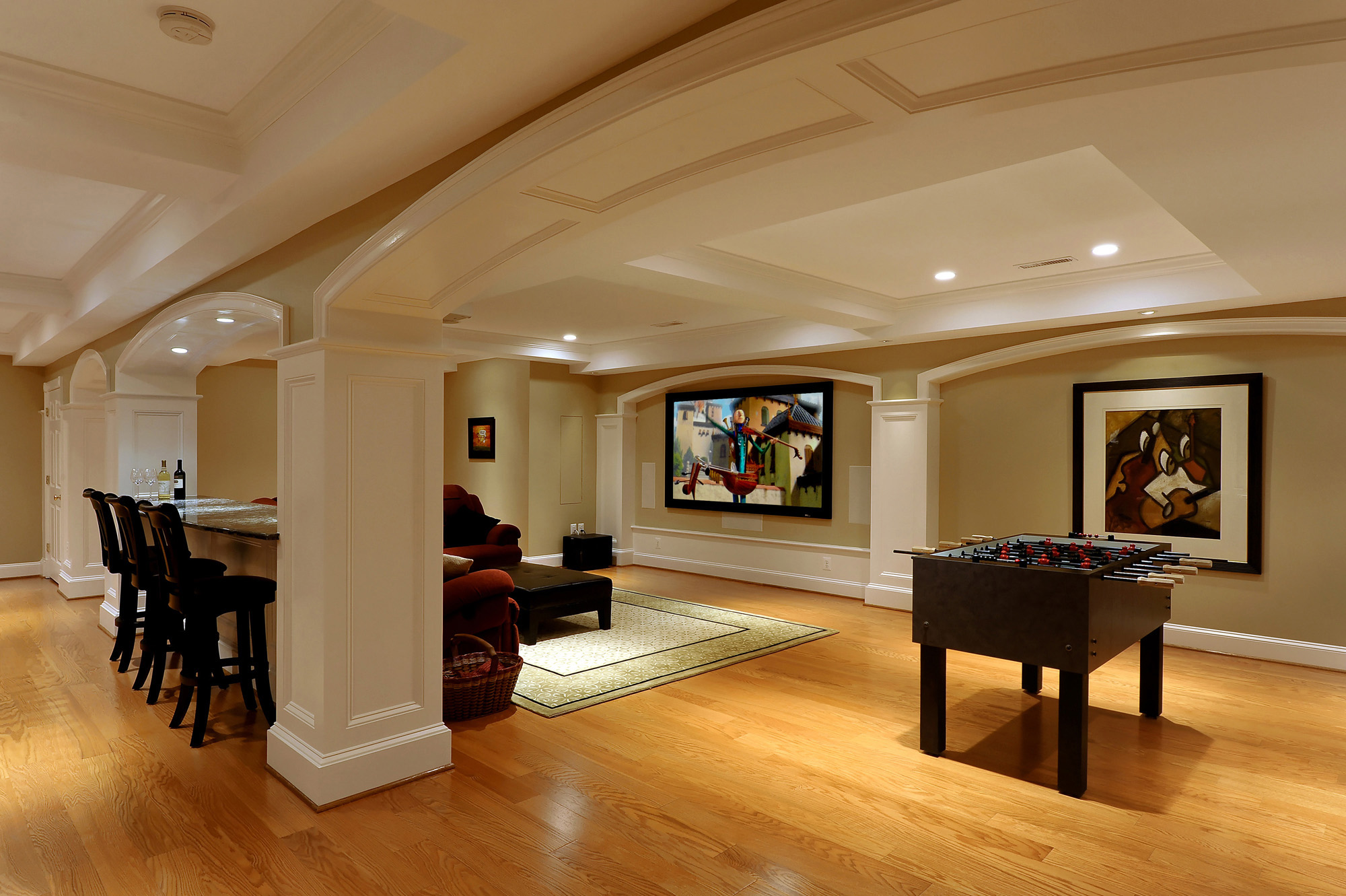 Lower Level Renovation Creates Wonderful Spaces For Ashburn Virginia Family Bowa