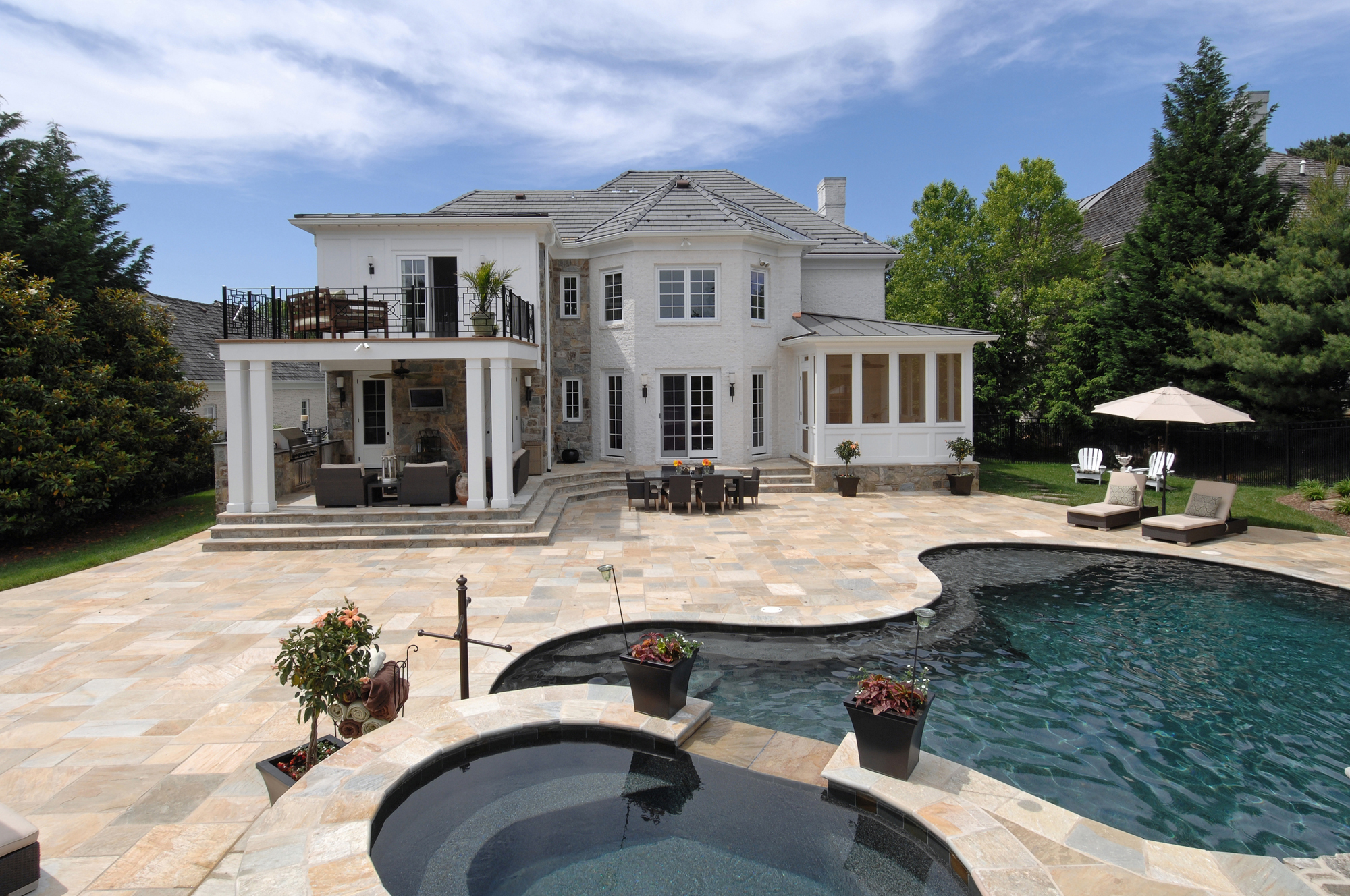 Spectacular whole home renovation in potomac maryland bowa for Pools for houses