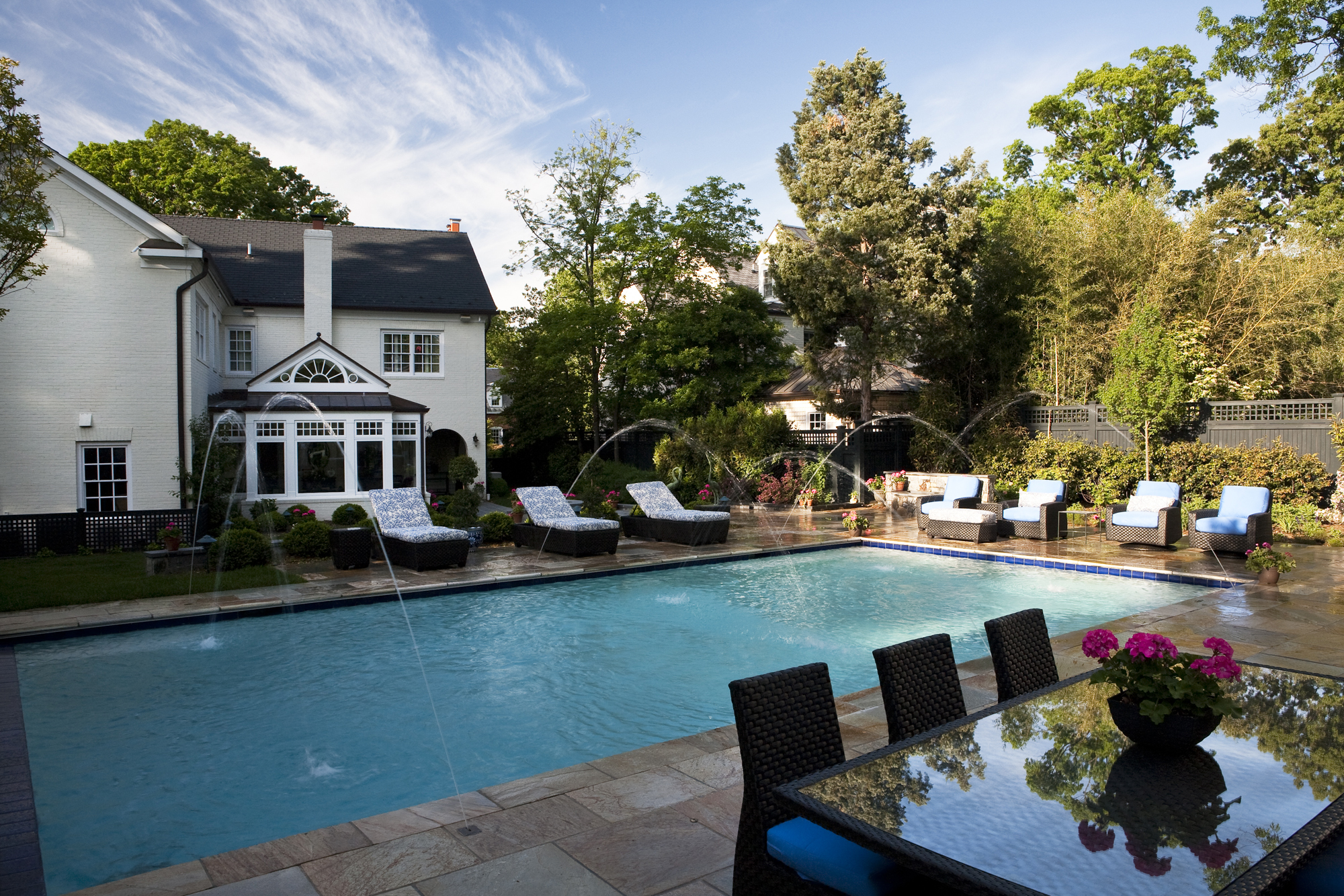 Stunning backyard and pool addition in alexandria virginia bowa Swimming pools in alexandria va