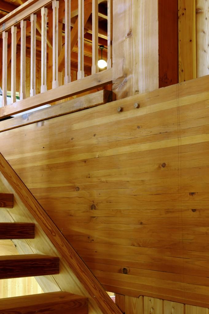 Timberframe Barn Staircase