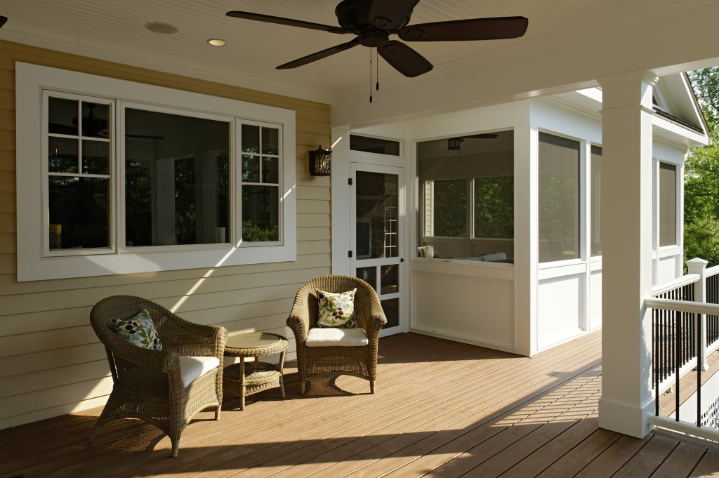 Great Falls VA Renovation Rear Porch