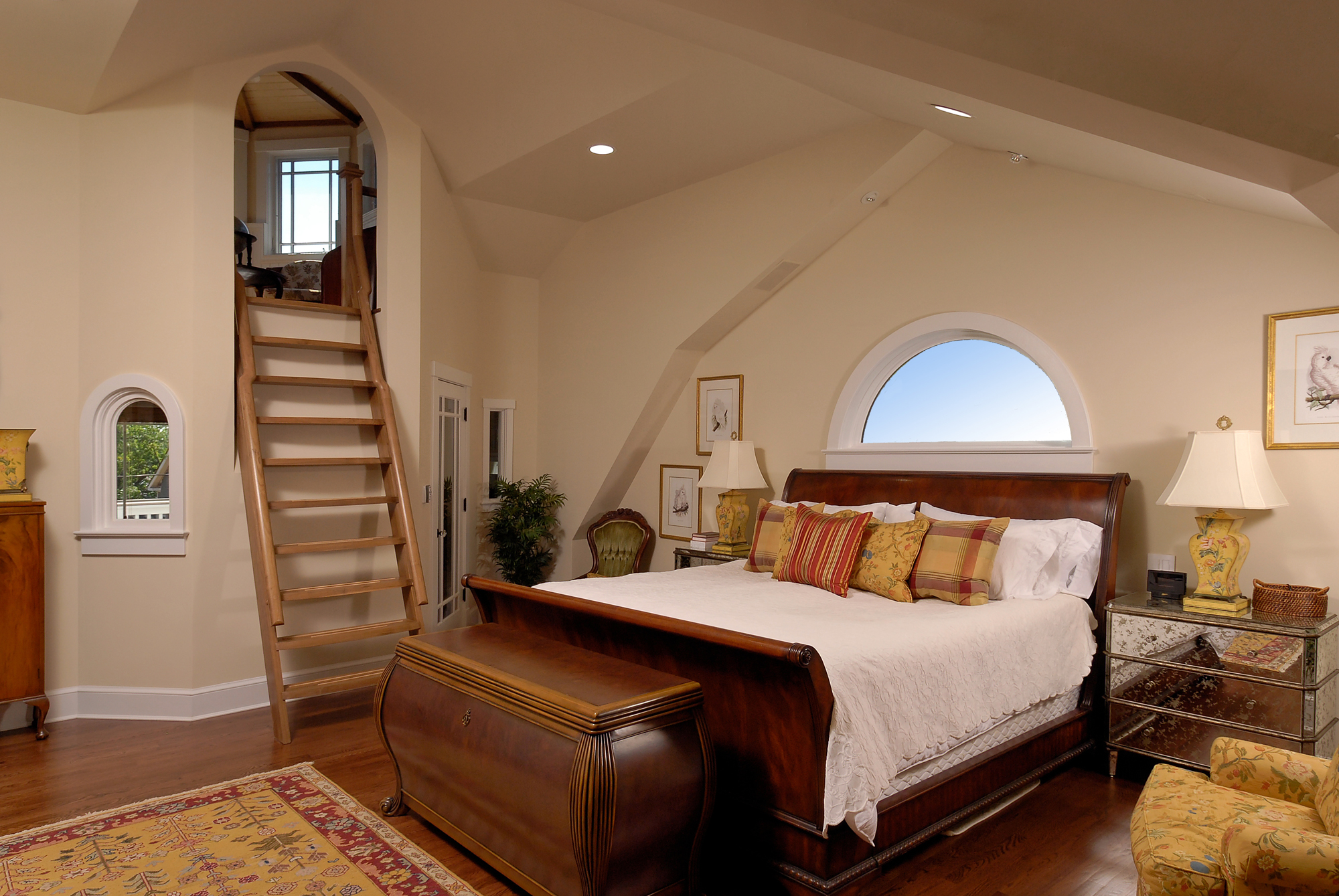 arlington va renovation master bedroom with loft - Master Bedrooms