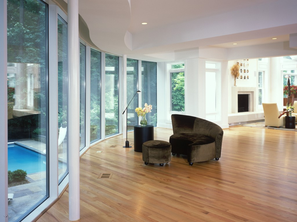 Great Falls VA Contemporary Renovation Addition Sitting Area