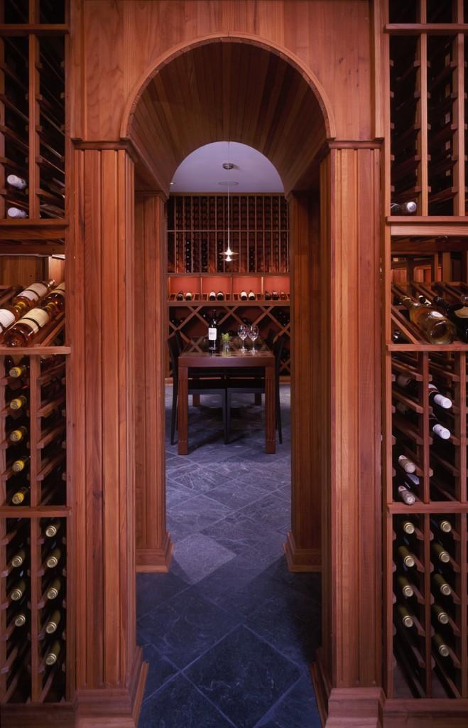 Great Falls VA Contemporary Renovation Addition Wine Room