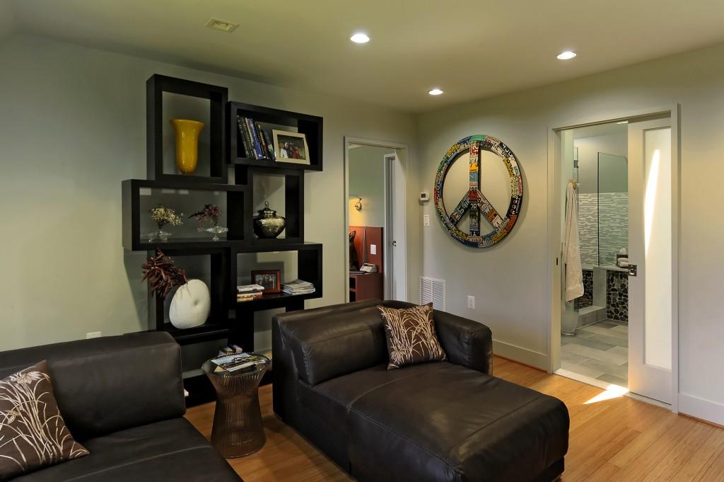 Great Falls VA Contemporary 'Addition Master Sitting Room