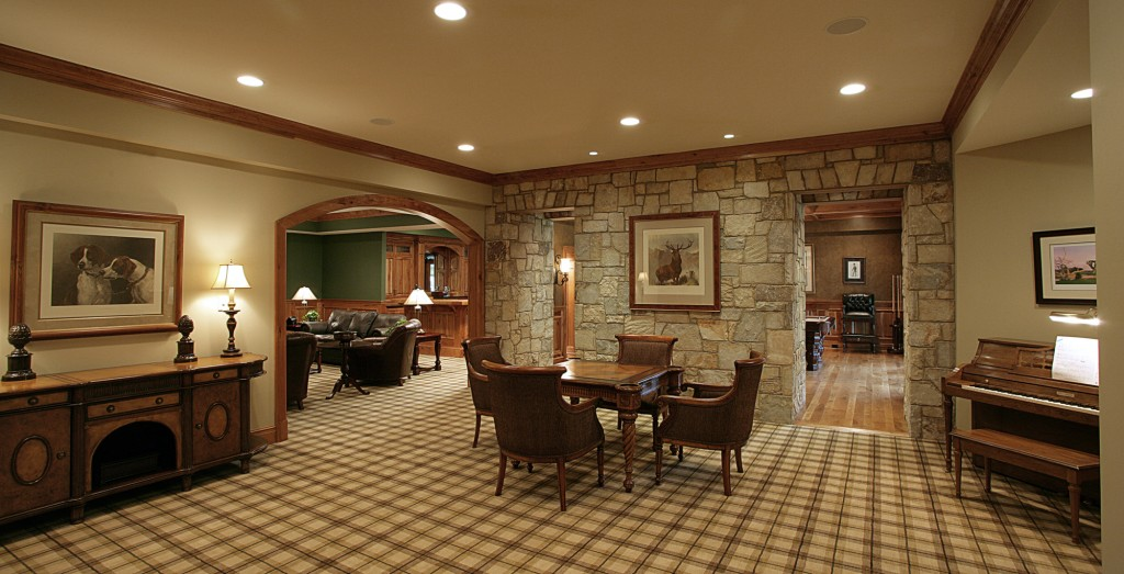 Great Falls VA Traditional Game Room