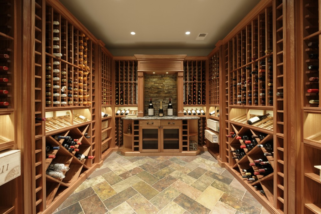 McLean VA Traditional Wine Room