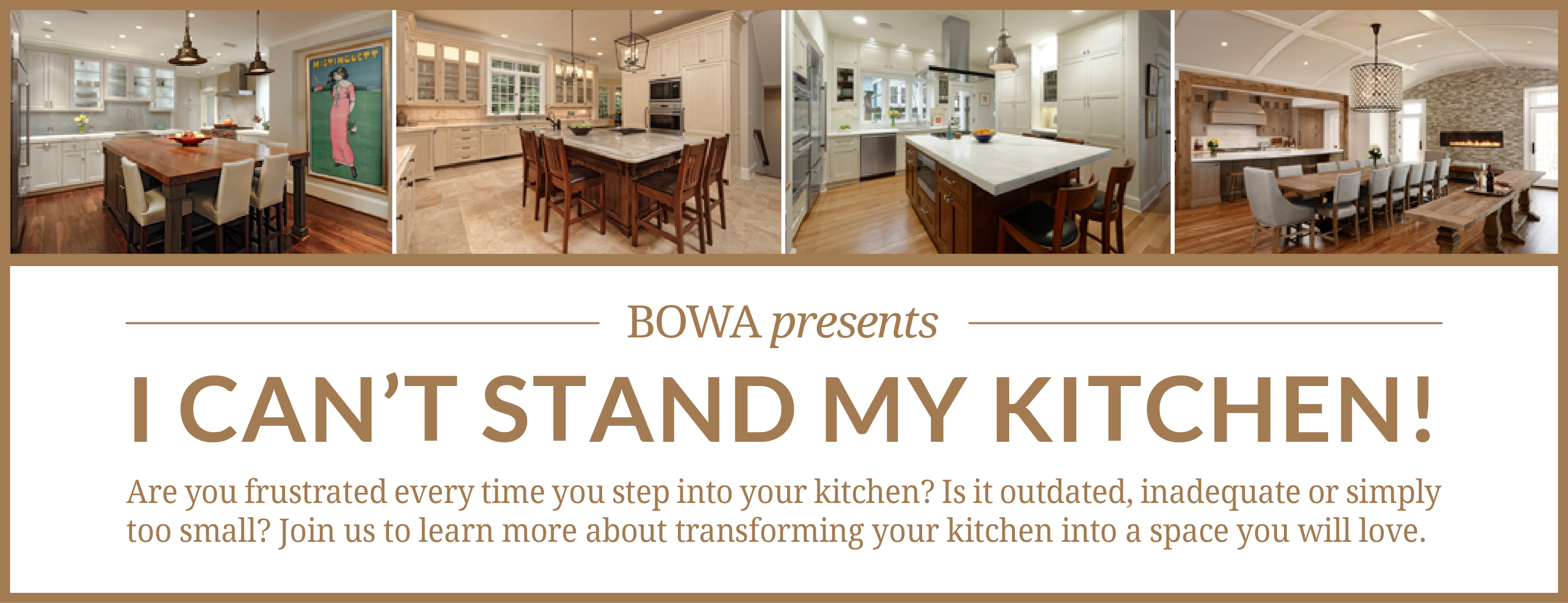 BOWA Kitchen Remodeling Seminar