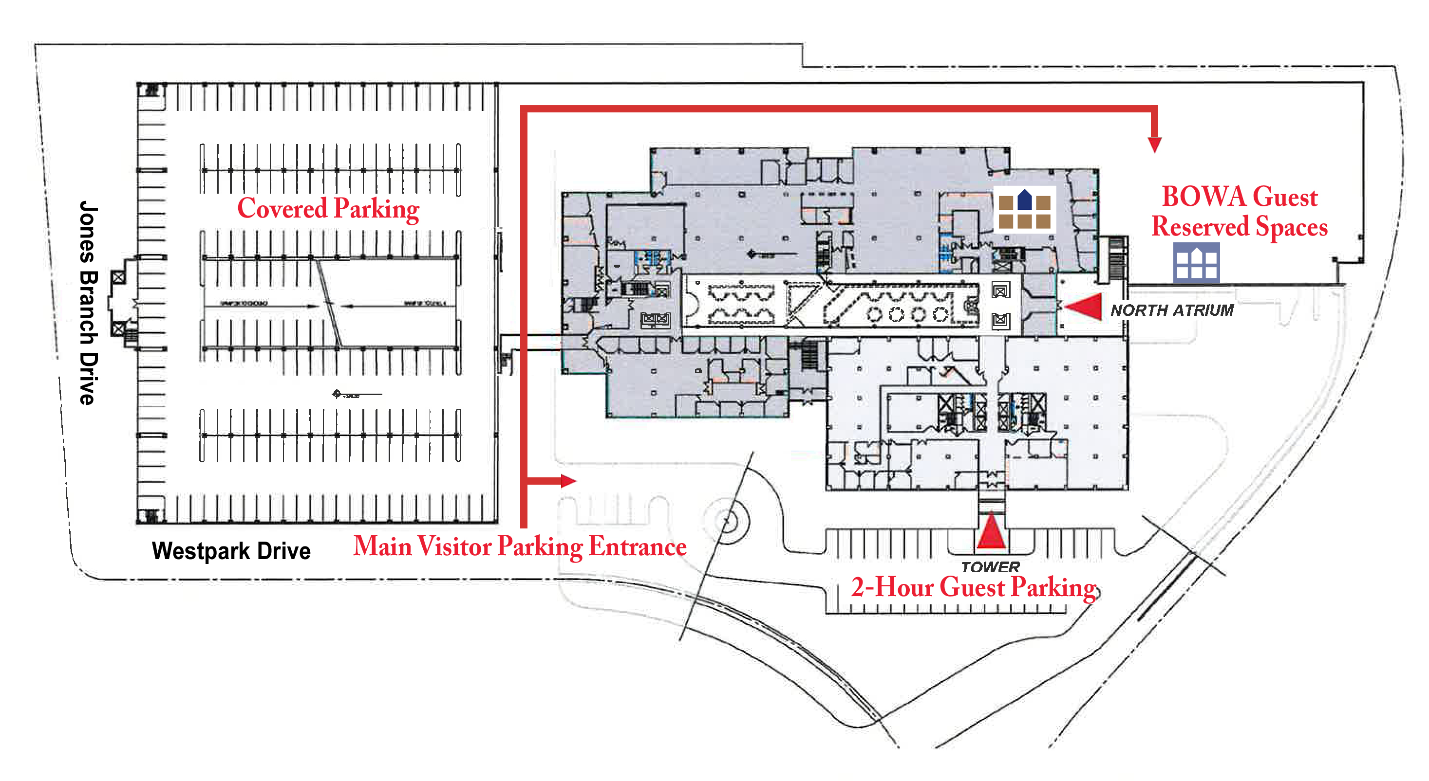 BOWA 7900 Westpark Drive, Suite A180 building map