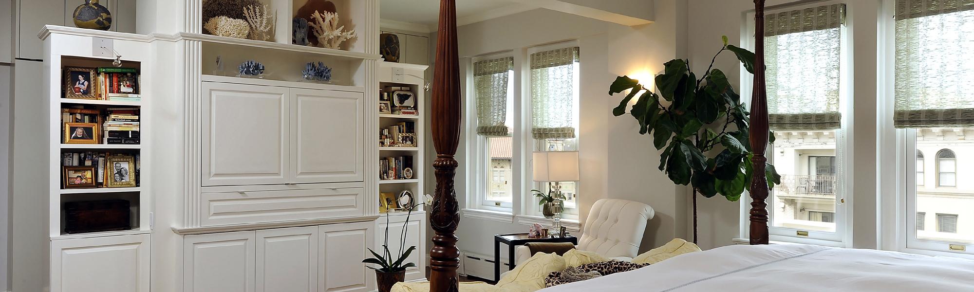 Washington DC Condo Renovation Master Bedroom Storage