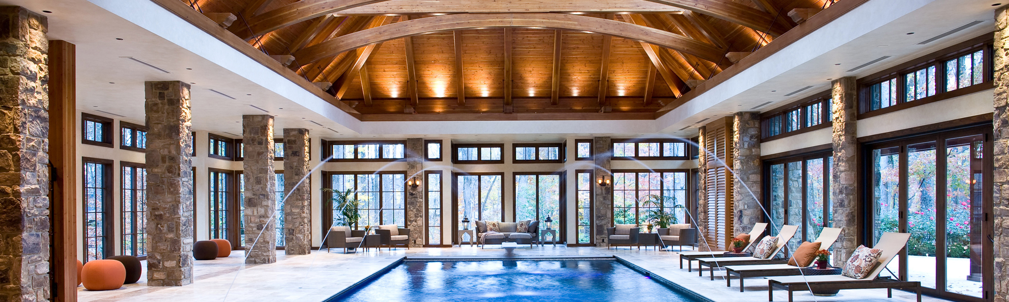 Exterior: Indoor Pool And Great Room Addition In Potomac, MD