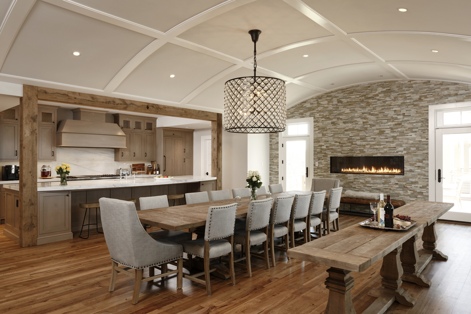 Loudoun county whole house renovation and entertaining addition bowa - Dining room renovation ...