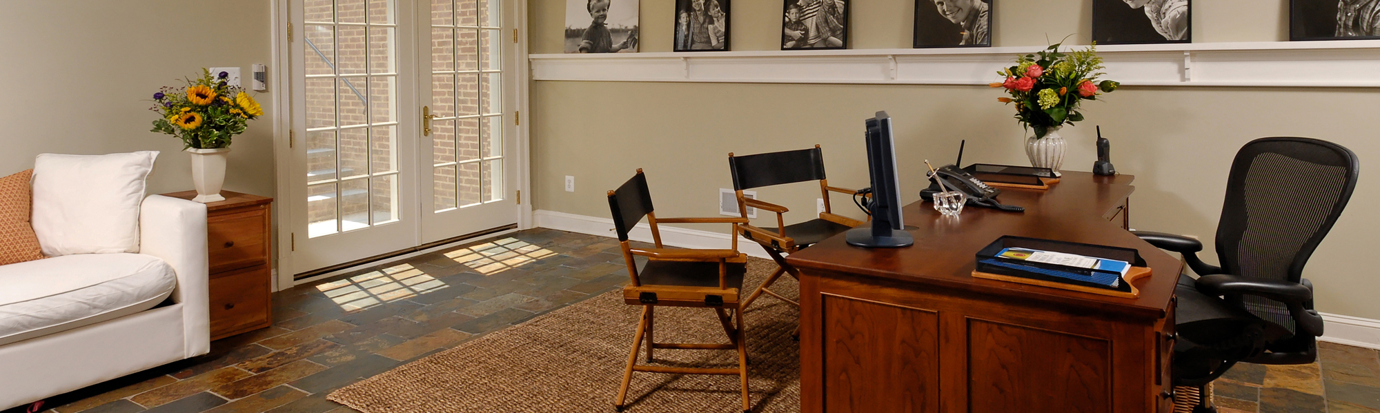 Home Office Renovation Intended Lower Level Renovation Creates Home Office In Mclean Virginia Bowa