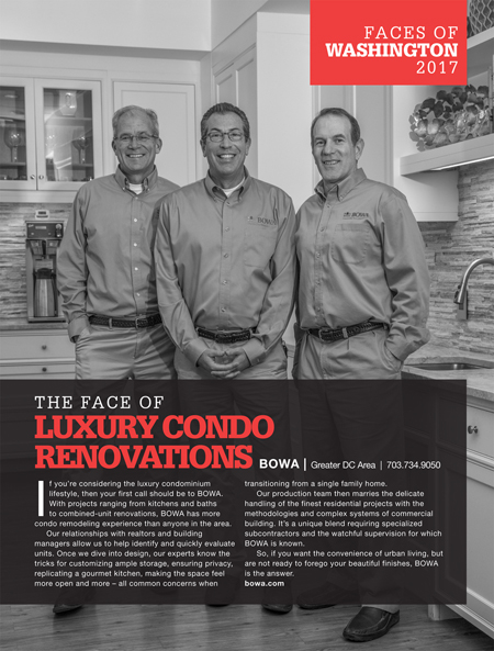 BOWA Washingtonian Faces of Luxury Condo Renovations