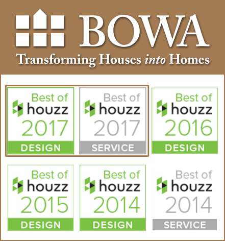BOWA Best of Houzz 4 years in a Row with Logo