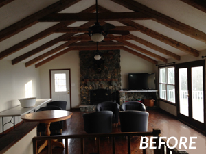 Loudoun County Great Room Before