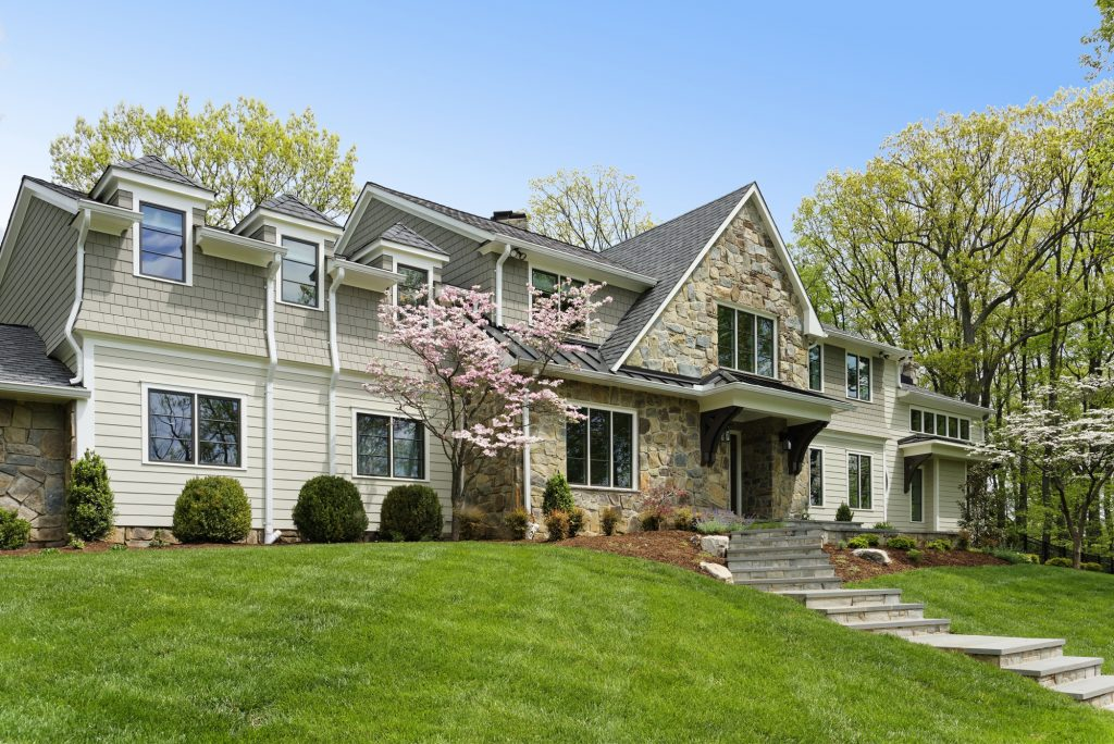 McLean, Virginia Renovation Front Elevation