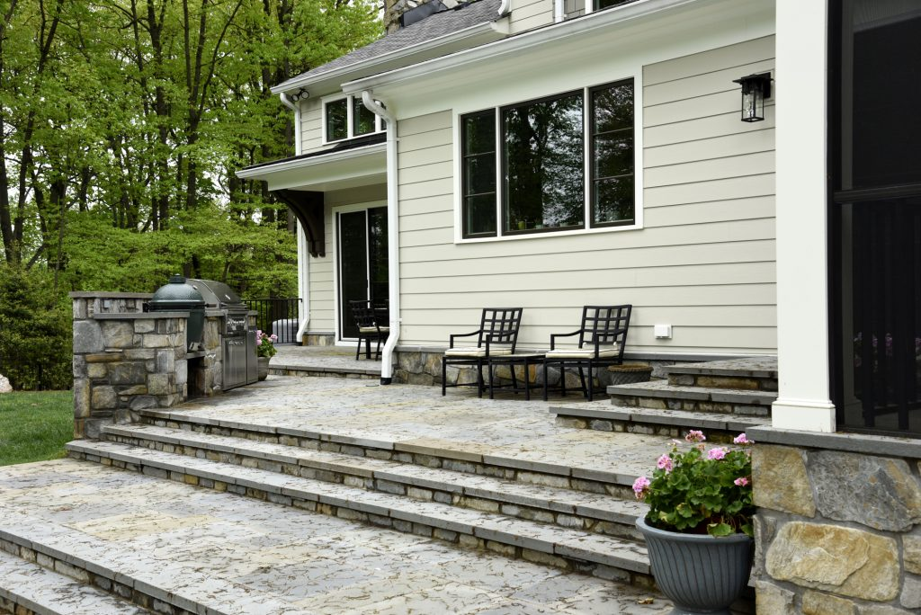 McLean, Virginia Outdoor Renovation Grill Area