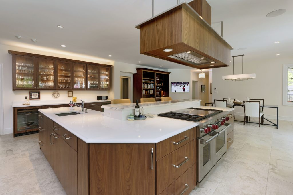 BOWA Design Build Kitchen Renovation with large island in McLean, VA