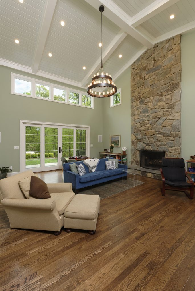 McLean, Virginia Family Room Renovation Vaulted Ceiling