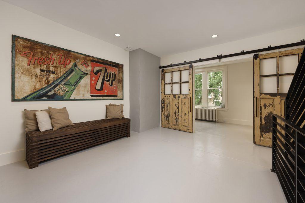 BOWA design build row home renovation in Washington, DC Sitting Room