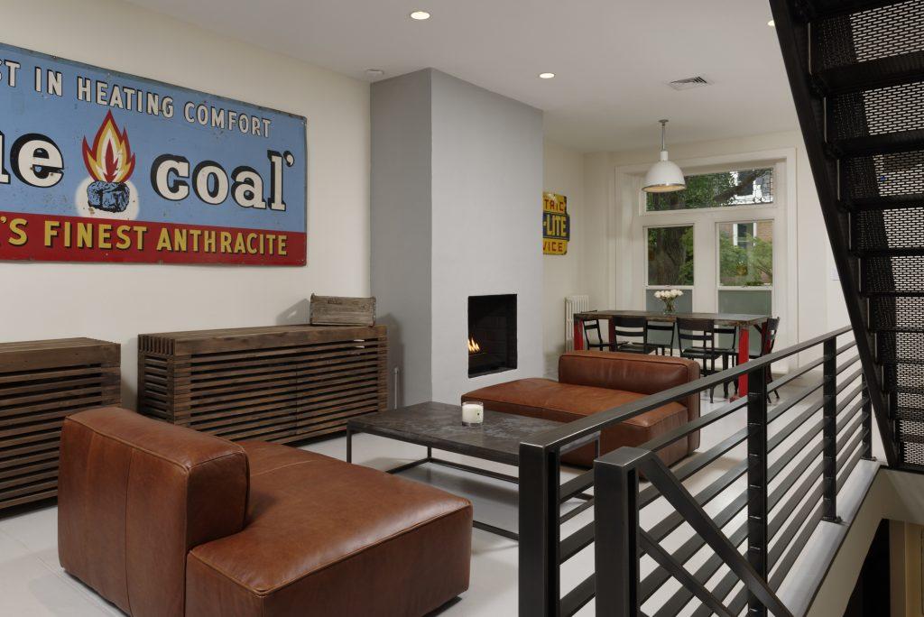 BOWA design build row home renovation in Washington, DC Industrial Interior