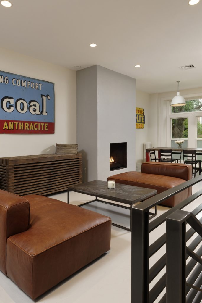 BOWA design build row home renovation in Washington, DC Living Room Industrial