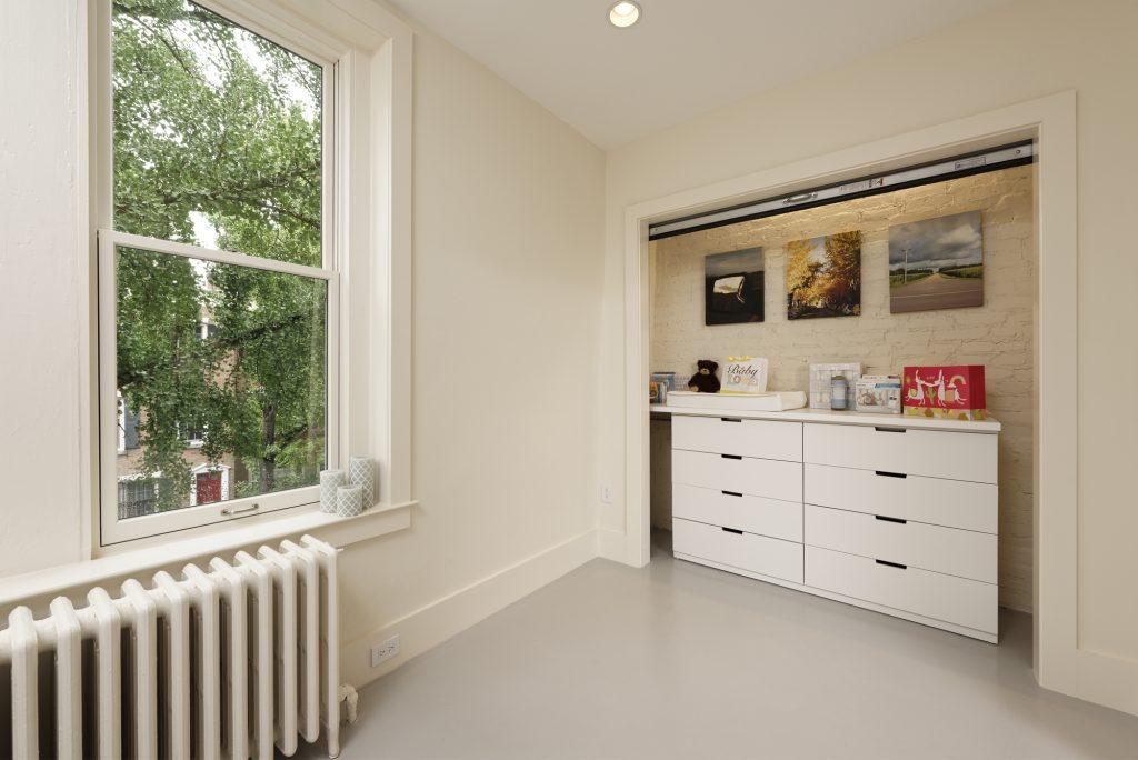 BOWA design build row home renovation in Washington, DC Baby Bedroom Closet