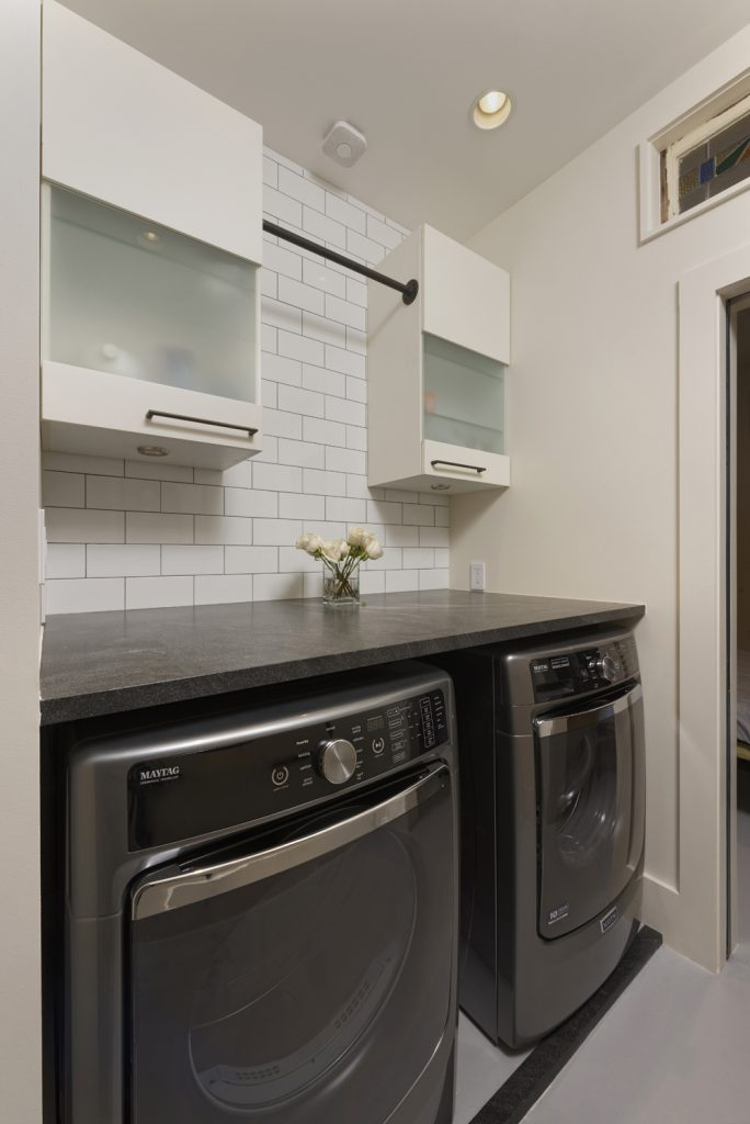 BOWA design build row home renovation in Washington, DC Laundry Room