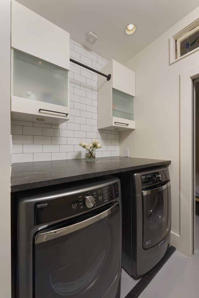 BOWA design build row home renovation in Washington, DC Laundry Room