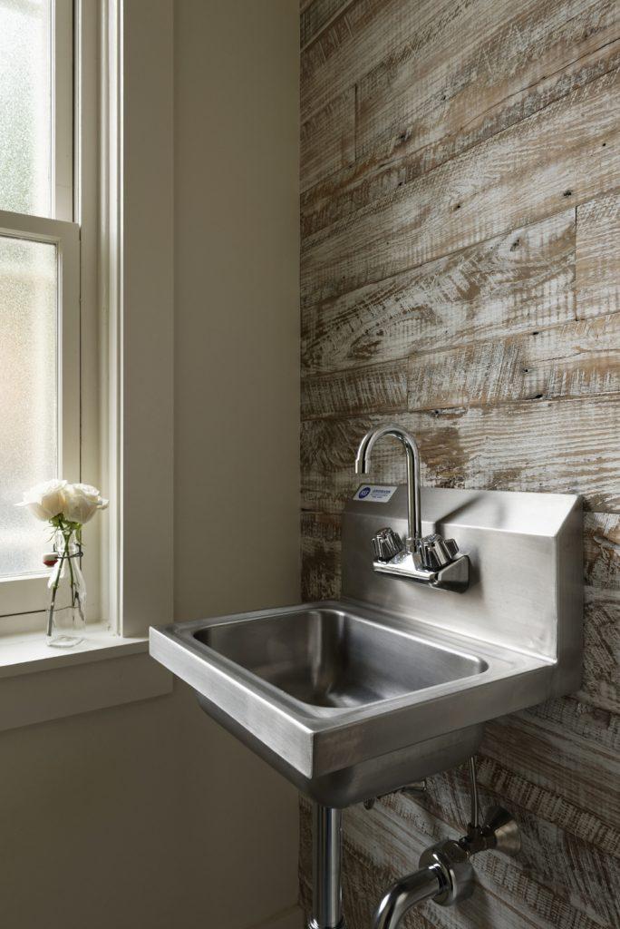 BOWA design build row home renovation in Washington, DC powder room sink