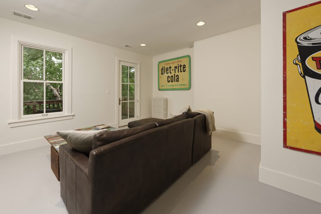 BOWA design build row home renovation in Washington, DC Sitting Area