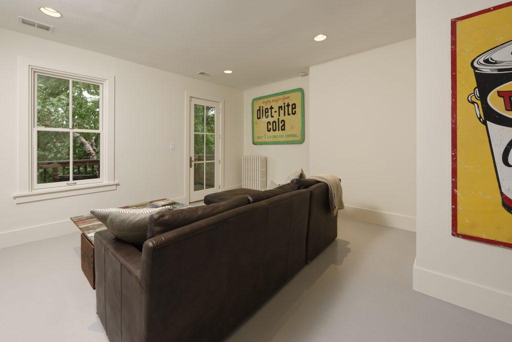 BOWA design build row home renovation in Washington, DC Sitting Area