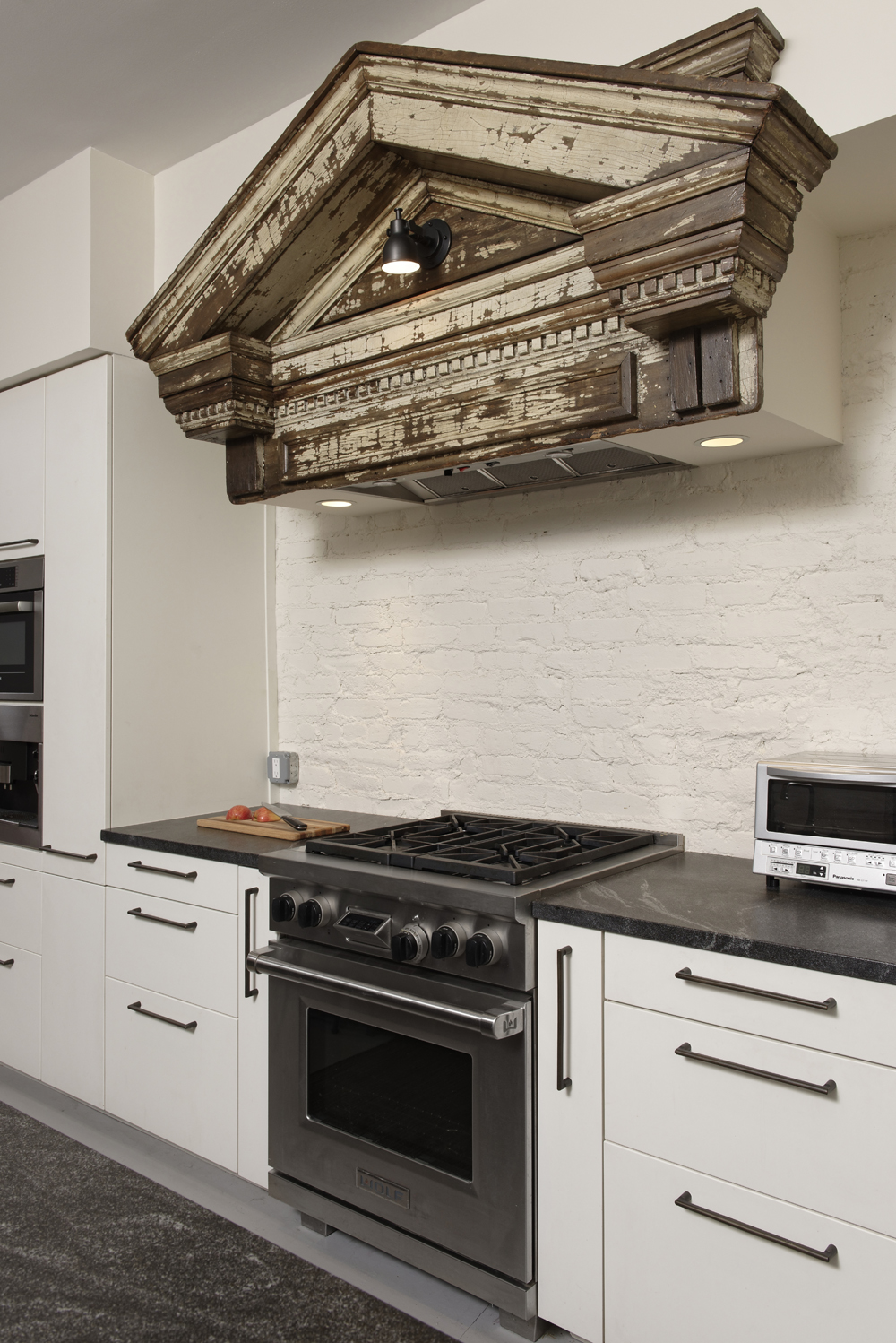 BOWA Design Build Row Home Renovation In Washington, DC Industrial Kitchen  Stove Hood